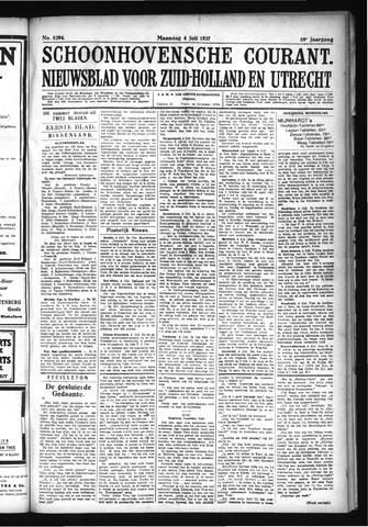 Schoonhovensche Courant 1927-07-04