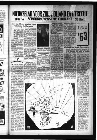 Schoonhovensche Courant 1952-12-31