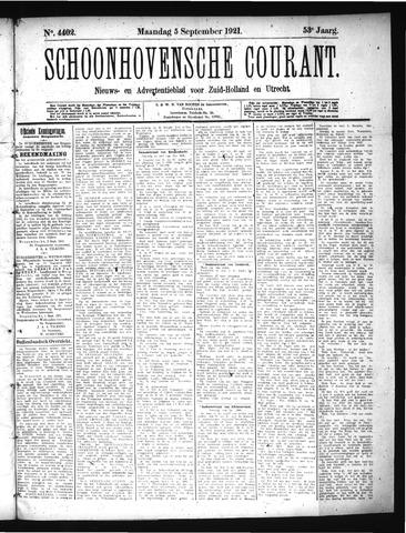 Schoonhovensche Courant 1921-09-05