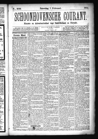 Schoonhovensche Courant 1914-02-07