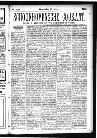 Schoonhovensche Courant 1920-03-10