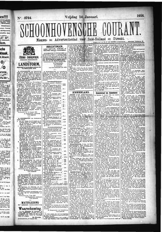 Schoonhovensche Courant 1916-01-14