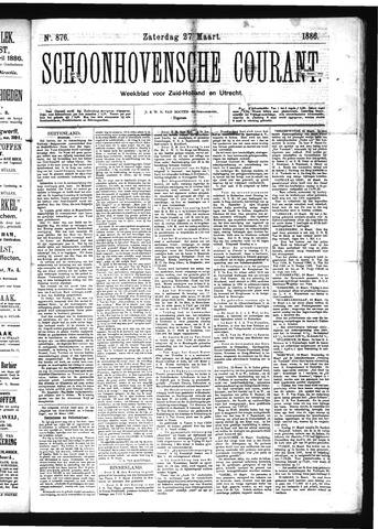 Schoonhovensche Courant 1886-03-27