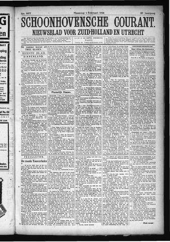 Schoonhovensche Courant 1926-02-01