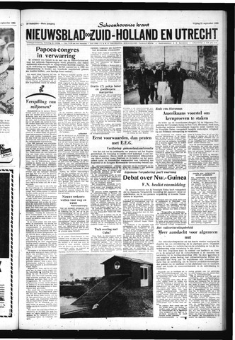 Schoonhovensche Courant 1962-09-21