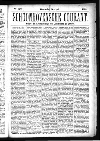 Schoonhovensche Courant 1895-04-10