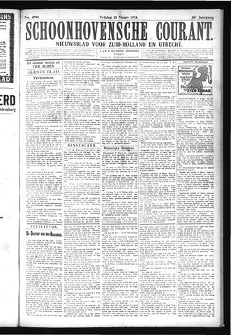 Schoonhovensche Courant 1924-03-28