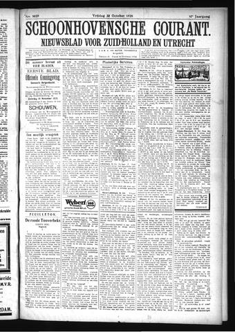 Schoonhovensche Courant 1925-10-30