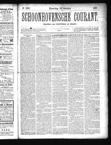 Schoonhovensche Courant 1888-10-20
