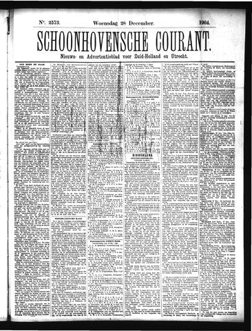 Schoonhovensche Courant 1904-12-28