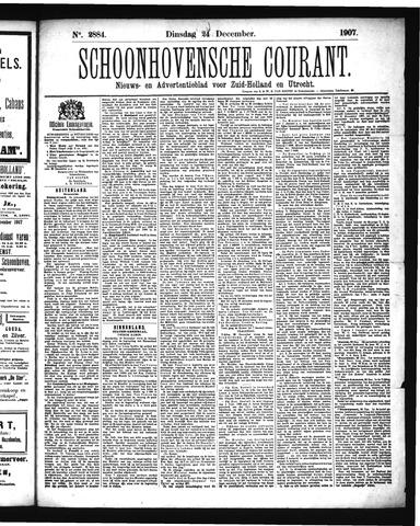 Schoonhovensche Courant 1907-12-24