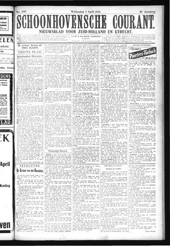 Schoonhovensche Courant 1924-04-02