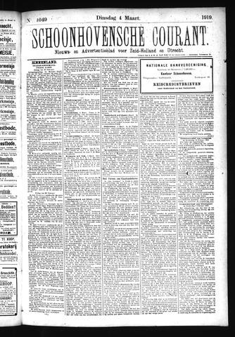 Schoonhovensche Courant 1919-03-04