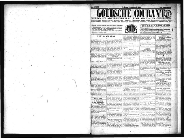 Goudsche Courant 1931