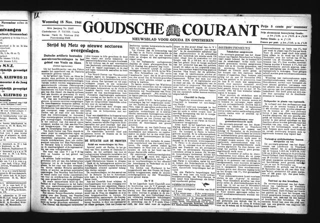 Goudsche Courant 1944-11-15