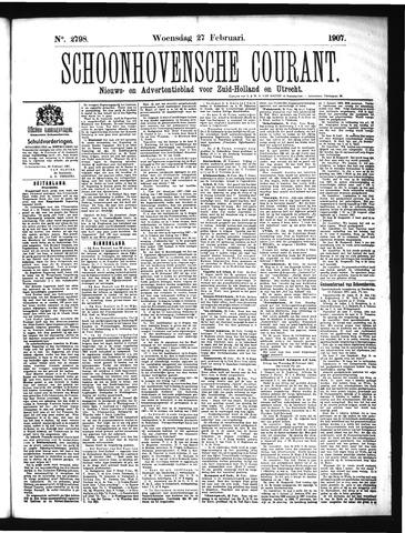 Schoonhovensche Courant 1907-02-27