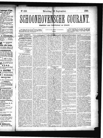 Schoonhovensche Courant 1890-09-20
