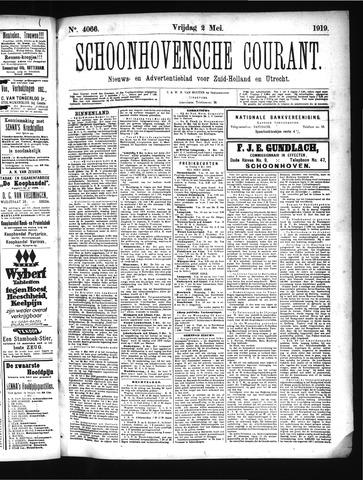 Schoonhovensche Courant 1919-05-02