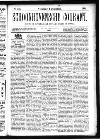 Schoonhovensche Courant 1891-11-04