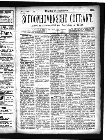 Schoonhovensche Courant 1916-09-12
