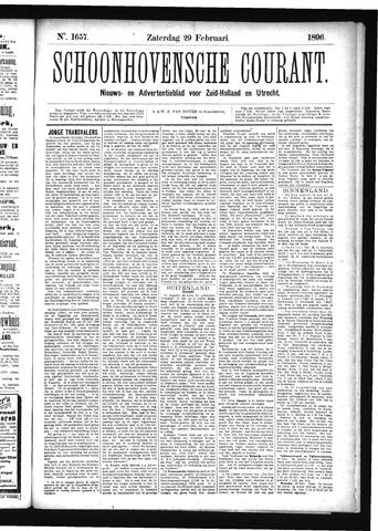 Schoonhovensche Courant 1896-02-29