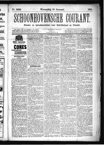 Schoonhovensche Courant 1911-01-18