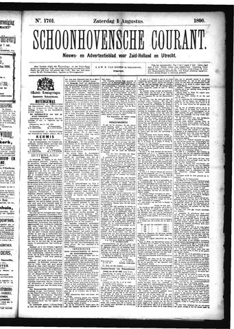 Schoonhovensche Courant 1896-08-01