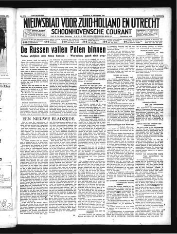 Schoonhovensche Courant 1939-09-18