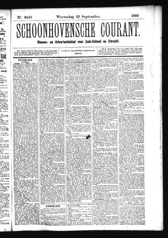 Schoonhovensche Courant 1903-09-23