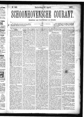Schoonhovensche Courant 1887-04-30