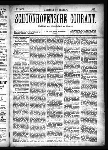 Schoonhovensche Courant 1890-01-25