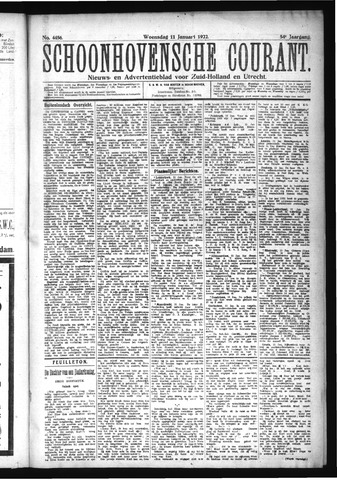 Schoonhovensche Courant 1922-01-11