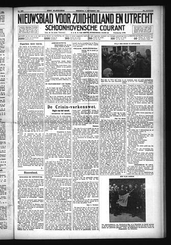 Schoonhovensche Courant 1932-09-14