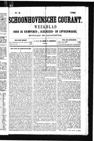 Schoonhovensche Courant 1869-08-29