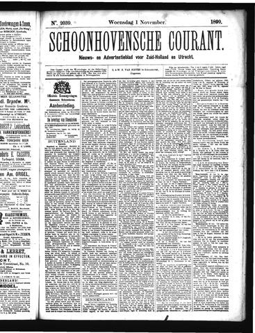 Schoonhovensche Courant 1899-11-01