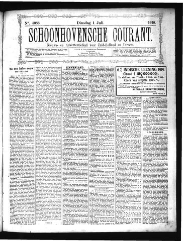 Schoonhovensche Courant 1919-07-01