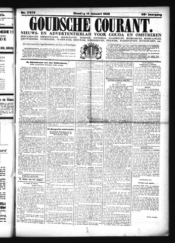 Goudsche Courant 1930-01-14