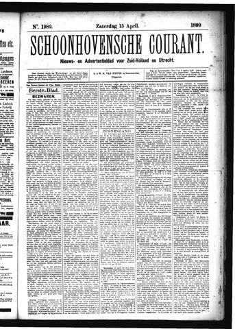 Schoonhovensche Courant 1899-04-15