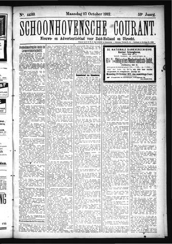 Schoonhovensche Courant 1921-10-17