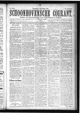 Schoonhovensche Courant 1923-11-07