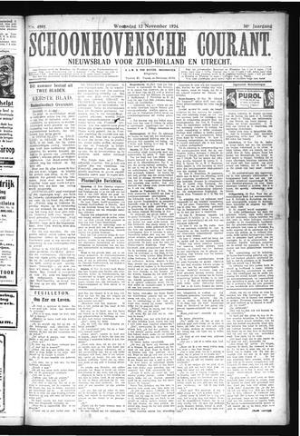 Schoonhovensche Courant 1924-11-12