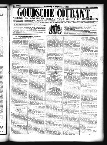 Goudsche Courant 1931-09-07