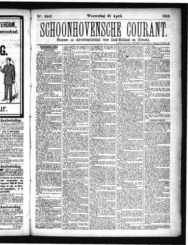 Schoonhovensche Courant 1913-04-30