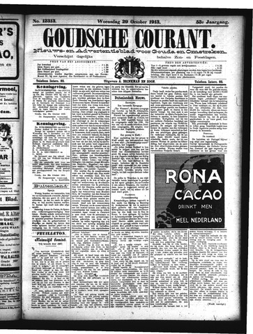 Goudsche Courant 1913-10-29