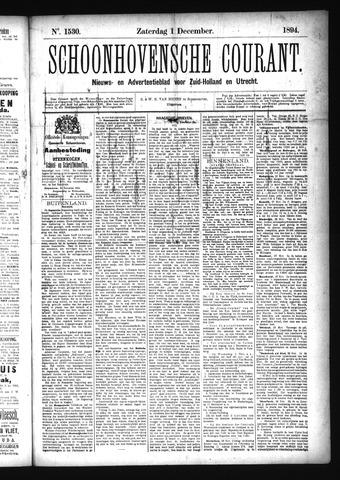 Schoonhovensche Courant 1894-12-01