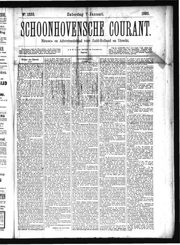 Schoonhovensche Courant 1893-01-07