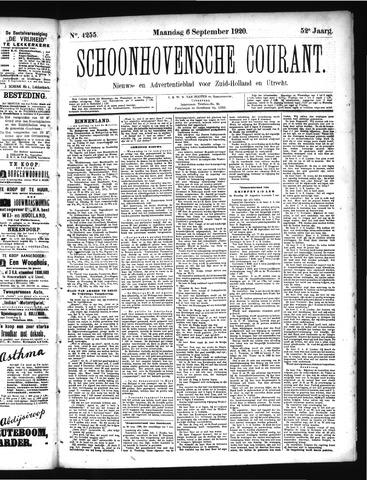 Schoonhovensche Courant 1920-09-06