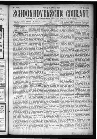 Schoonhovensche Courant 1923-02-23