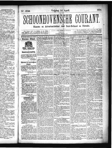 Schoonhovensche Courant 1916-04-14