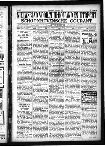 Schoonhovensche Courant 1928-09-10